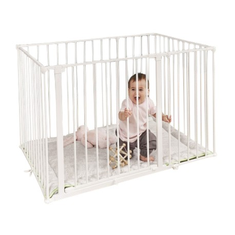 Baby Dan Square Playpen with Mat (White)