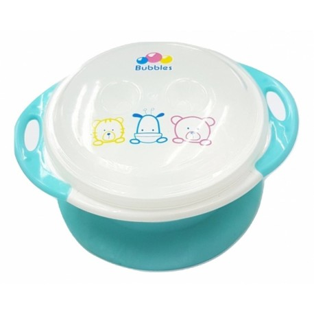 Bubbles Suction Bowl with Lid