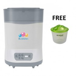 Bubbles Steam & Dry Sterilizer FREE Milk Powder Container (EXCLUSIVE MOTHERHOOD)
