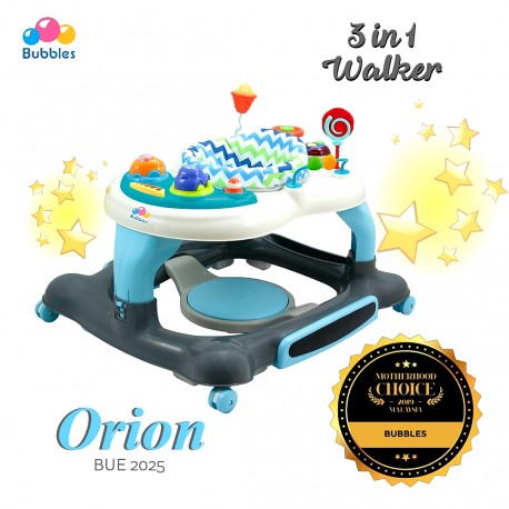 Bubbles 3 in 1 Baby Walker Orion