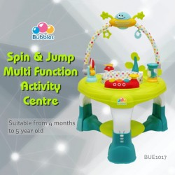 Bubbles Spin & Jump Multi Function Activity Center (Green)