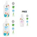 Chomel Special COMBO Baby Head to Toe Wash 500ml & Daily Lotion 500ml FOC Hand Sanitizer