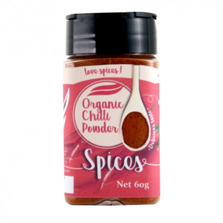 Love Earth Organic Red Chilli Powder (60g) - Best before 02.2022