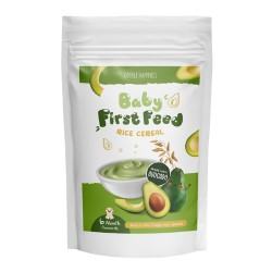 Double Happiness Avocado Baby First Feed Rice Cereal 200g