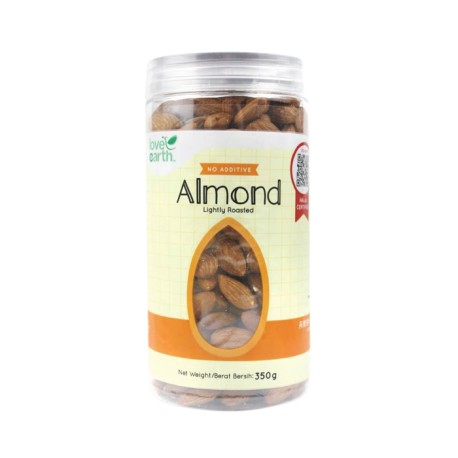 Love Earth Natural Almond Lightly Roasted (350g)