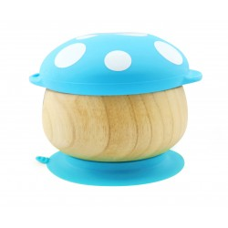Haakaa Wooden Mushroom Bowl with Suction Base