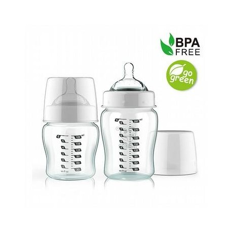 Haakaa 180ml Wide Neck Glass Baby Bottle