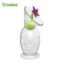 Haakaa COMBO Silicone Breast Pump (150ml) & Flower Stopper