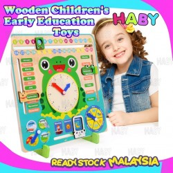 HABY Multi Function Wooden Calendar Clock Early Learning Education Toys
