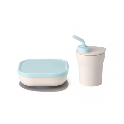 Miniware Sip and Snack Set (PLA Series) - Aqua