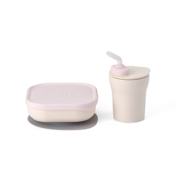Miniware Sip and Snack Set (PLA Series) - Cotton Candy