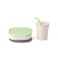 Miniware Sip and Snack Set (PLA Series) - Key Lime