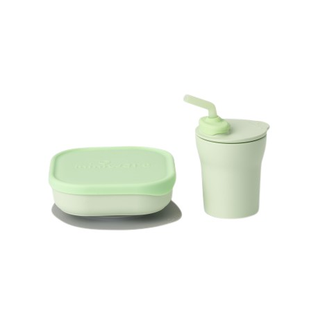 Miniware Sip & Snack Set (Coloured PLA Series) - Key Lime