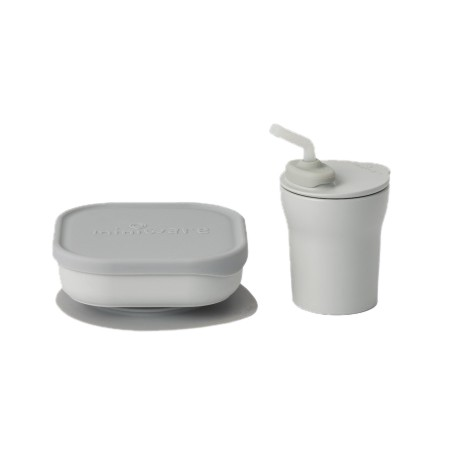 Miniware Sip & Snack Set (Coloured PLA Series) - Grey