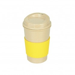 Rice Husk Ware Screw Mug (Yellow)