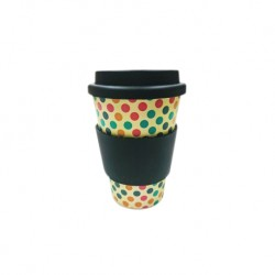 Rice Husk Ware Cafe Mug (New Series) - Rainbow + Black