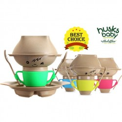 Rice Husk Baby Creative Set (7 pcs) (Husk's Junior) - Green