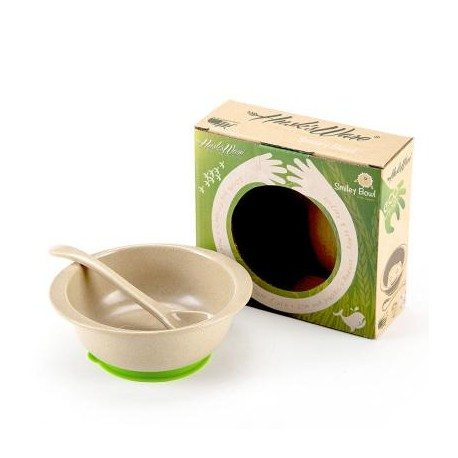 Rice Husk Baby Smiley bowl + silicone with Spoon (Husk's Jr)