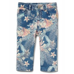 GAP Stretch Tropic Floral Straight Crop Jeans (7350210023000)