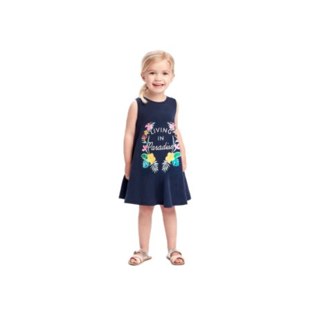 Old Navy Printed Jersey Tank for Toddler Girls (4946531923000)
