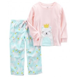 Carter's 2-Piece Polar Bear Fleece PJs (357G318)