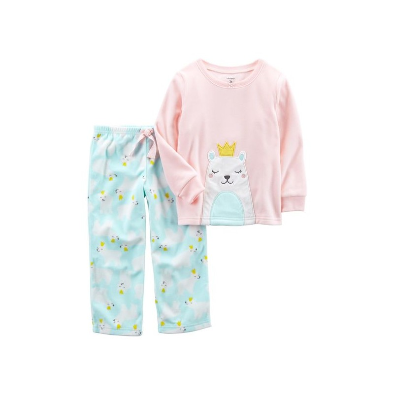 Carter s 2-Piece Polar Bear Fleece PJs (357G318). Loading zoom 3da386c15