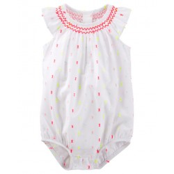 OshKosh B gosh Smocked Swiss Dot Bodysuit (11056913)