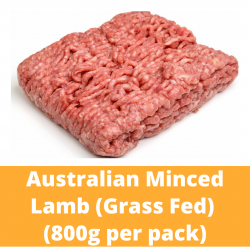 Halal Commissary Minced Lamb 800g/pack (Grass Fed)