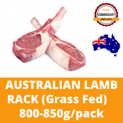 Halal Commissary Frozen Lamb Rack 800-850g per Pack (Sold per Pack)