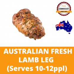 Halal Commissary Fresh Lamb Leg (Grass Fed) - Serves 10-12 Ppl
