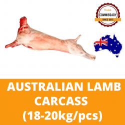 Halal Commissary Lamb Carcass (Grass Fed) 18-20kg per Piece (Sold per Piece)