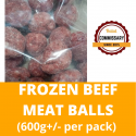 Halal Commissary Frozen Beef Meat Balls (600g+/- per pack)