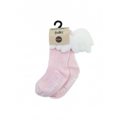 Akarana Baby Winged Socks (Pink)
