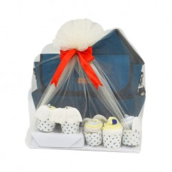 Akarana Baby Baby hamper for Mama & Newborn Baby Blue (Hamper / Gift Pack)