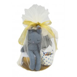 Akarana Baby Muffin Keke Hamper/ Gift Box for Baby (Grey)