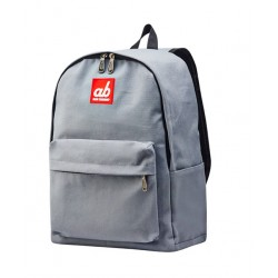 ab New Zealand Simplicity Grey Kids Canvas Backpack