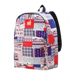 ab New Zealand Britain Retro Kids Canvas Backpack