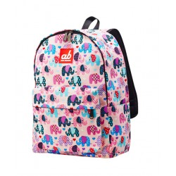 ab New Zealand Pinky Eleph Kids Canvas Backpack
