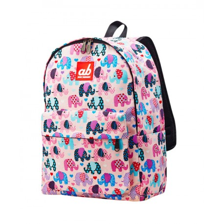Ab New Zealand Pinky Eleph Kids Canvas Backpack Diaper Bags