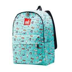 ab New Zealand Kitty On Mint Kids Canvas Backpack
