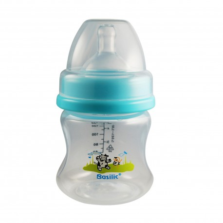 Basilic PP Wide-Neck Feeding Bottle With Anti-Colic Teat 140ml