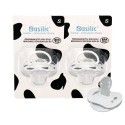Basilic Orthodontic Soother White Small - 2 Pieces