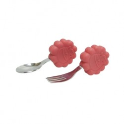 Marcus & Marcus Palm Grasp Spoon & Fork Set (Red Marcus)