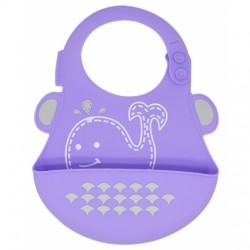 Marcus & Marcus Silicone Baby Bib (Purple Willo)
