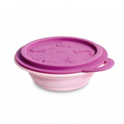 Marcus & Marcus Silicone Collapsible Bowl (Pink Pokey)