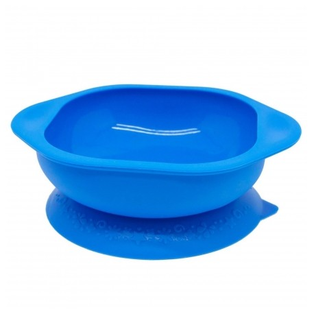 Marcus & Marcus Silicone Suction Learning Bowl (Blue Lucas)