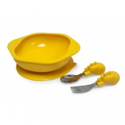 Marcus & Marcus Toddler Mealtime Set (Yellow Lola)