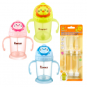 Simba Flip-it Straw Training Cup with Replacement Straw Set