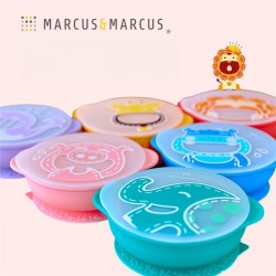 Marcus & Marcus Silicone Self Feeding Suction Bowl with Lid