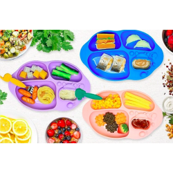 Marcus & Marcus Yummy Dips Suction Silicone Divided Plate (BLW Mommy Preffered)